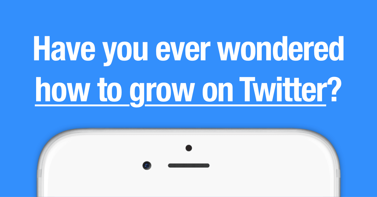 HAVE YOU EVER WONDERED HOW TO GROW YOUR FOLLOWERS ON TWITTER?